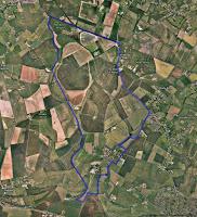 Map showing the Crawley Parish boundaries