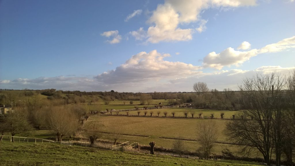 View across the Crawley valley